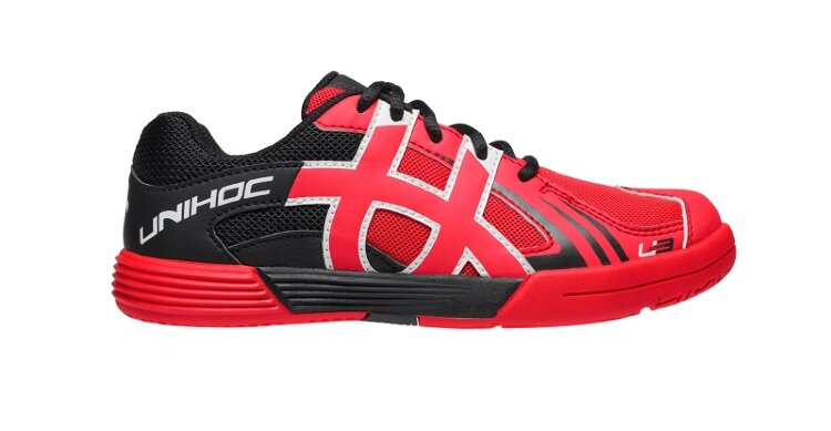 Кроссовки UNIHOC U3 Unisex JR neon red/black