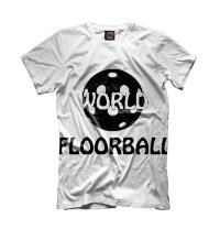 Футболка игрока Floorball World wht/blk