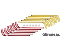 Набор клюшек Reactor Original red/yellow 80cm 12sticks+6balls