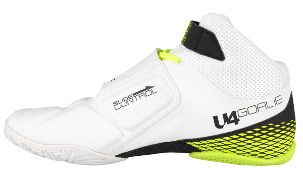 Кроссовки врат. UNIHOC U4 Goalie white/neon yellow