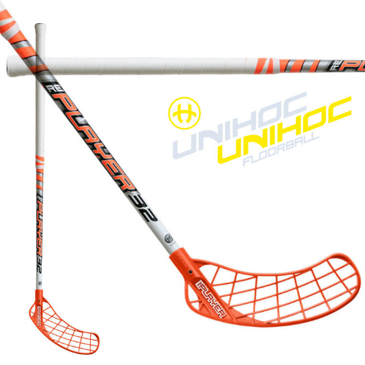 Клюшка UNIHOC RePlayer 32 neon orange/white 80cm R