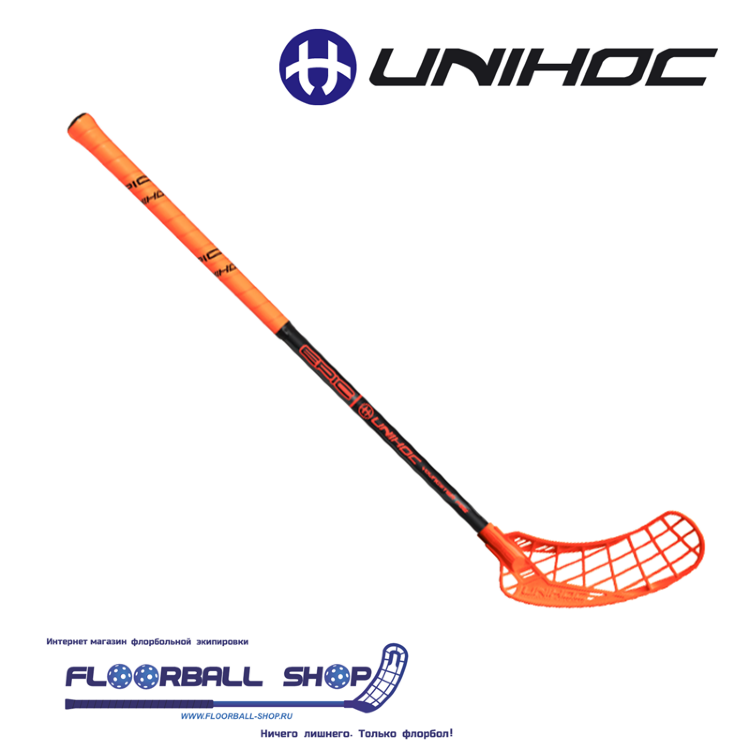 Клюшка UNIHOC EPIC Youngster 36 orange/black 70cm L