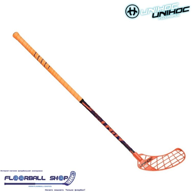 Клюшка UNIHOC UNITY 29 neon orange/blue 100cm L