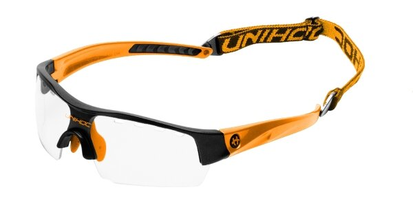Очки UNIHOC Victory junior black/neon orange