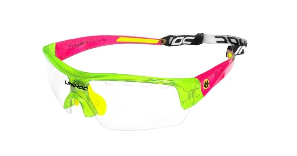 Очки UNIHOC Victory junior crystal green/red